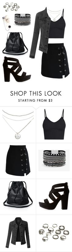 """Summer Night Out"" by isabel-pasrod on Polyvore featuring Chicwish, White House Black Market, Bamboo and LE3NO"