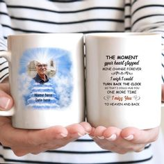Personalized Heaven The moment your heart stopped mine change forever Mug 15062101 - Example MUG / White / 15OZ