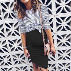 b2f7a6abfd9 #fashion #trends #styles #AdoreWe #Binkish - #binkish Maternity Stripes  Color