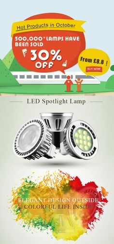 4.5W GU10 LED Spotlight Lamp (60W Replacement-Dimmable) : GU10 LED Spot Lights Product UK