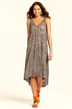 Nellie Burnout Print Dress::DRESSES::CLOTHING::FINAL SALE::Calypso St. Barth- $129