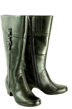 Women's Knee High Boots/Clarks Ingalls Vicky Black Leather