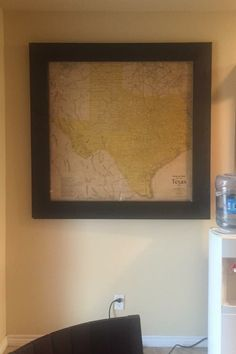 Framed out Texas map