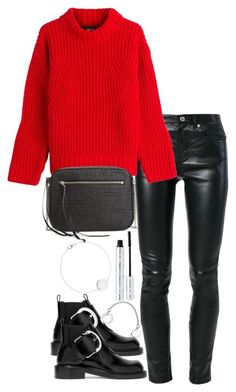 """""""Untitled #3498"""" by theeuropeancloset ❤ liked on Polyvore featuring Yves Saint Laurent, Dsquared2, Maison Margiela, AllSaints and 100% Pure"""