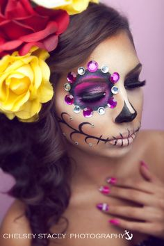Sugar Skull Makeup by Starrly Gladue Chelsey Stacey Photography