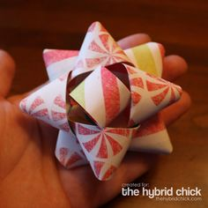 See fullsize image: Christmas Paper Bows. I love the customibility about this.