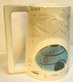 VTG Eskimo Igloo tall Mug from  the Sascha Brastoff  Alaska series Signed #SachaBrastoff #AlaskaLine