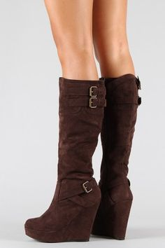 wedge + knee-high boot = perfect