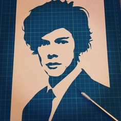 Harry Styles Single Layer Stencil by Ramart #OneDirection #1d #Directioners #Stencil