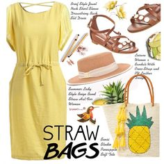 How To Wear Summer Style Straw Bags Outfit Idea 2017 - Fashion Trends Ready To Wear For Plus Size, Curvy Women Over 20, 30, 40, 50