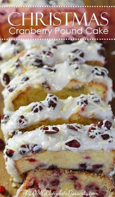 Cranberry Pound Cake You simply have to try this heavenly Christmas Cranberry Pound Cake. Pound cake with cranberries and white chocolate and a beautiful white glaze.You simply have to try this heavenly Christmas Cranberry Pound Cake. Pound cake with cra Christmas Desserts Easy, Christmas Cooking, Christmas Parties, Christmas Treats, Christmas Time, Christmas Cranberry Cake, Thanksgiving Treats, Christmas Foods, Thanksgiving Sides