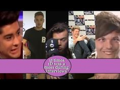 Almost peeing themselves laughing, talking nonsense, acting like their usual goofy selves, using mics as hitting tools and making a mess, you'll see that and. One Direction Interviews, Midnight Memories, Acting, Love You, Times, Harry Styles, Youtube, Bands, Tv