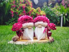 Scandinavian Gnomes, Christmas Gnome, Fabric Dolls, Hobbies And Crafts, Pin Cushions, Cleaning Wipes, Nursery Decor, Stuffed Mushrooms, Bearded Men