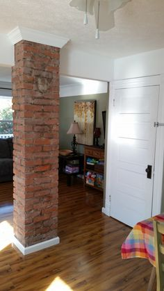 Exposed Chimney w/trim on top and bottom