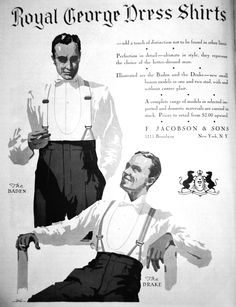 Stiff fronted Dress Shirts (for an Evening Dress)