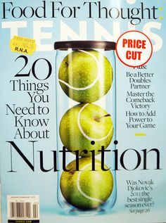 Food For Thought Magazine, January/February 2012 - such a great idea to make the tennis balls apples.