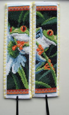 Cross stitch bookmarks. Tree Frogs. Vervaco.