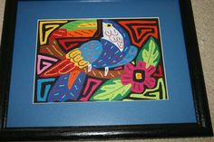 Toucan mola, entirely hand stitched by a Kuna indian, and framed.   Asmatcollection on ebay and bonanza.com Contact us with questions: cheetahdmr@aol.com
