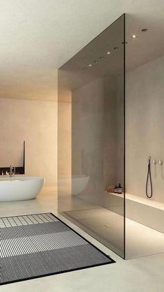 Bathroom Design Luxury, Interior Design Kitchen, Minimalist Bathroom Design, Bathroom Modern, Minimalist Showers, Bathroom Lighting Design, Modern Small Bathrooms, Minimal Bathroom, Contemporary Bathroom Designs