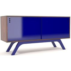 Buffet 2 Portas De Correr Laca Fosca Azul 1,50 MT - 32574 - SunHouse