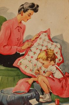Mommy and me sewing time.