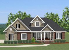 4 Bed House Plan With Upstairs Office - 46230LA   1st Floor Master Suite, Bonus Room, Butler Walk-in Pantry, CAD Available, Corner Lot, Den-Office-Library-Study, Jack & Jill Bath, PDF, Split Bedrooms, Traditional   Architectural Designs