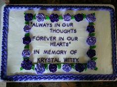 Funeral Good Bye Cake