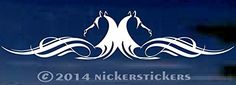 "Beautiful Horse Head Flourish for Rear Window - Truck Car Decal Sticker - 5"" tall x 24"" wide NickerStickers http://www.amazon.com/dp/B00OTQ092K/ref=cm_sw_r_pi_dp_mkK8vb0G88JBE"