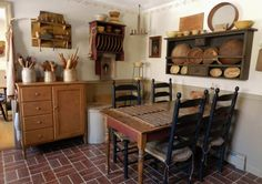 cute little primitive kitchen