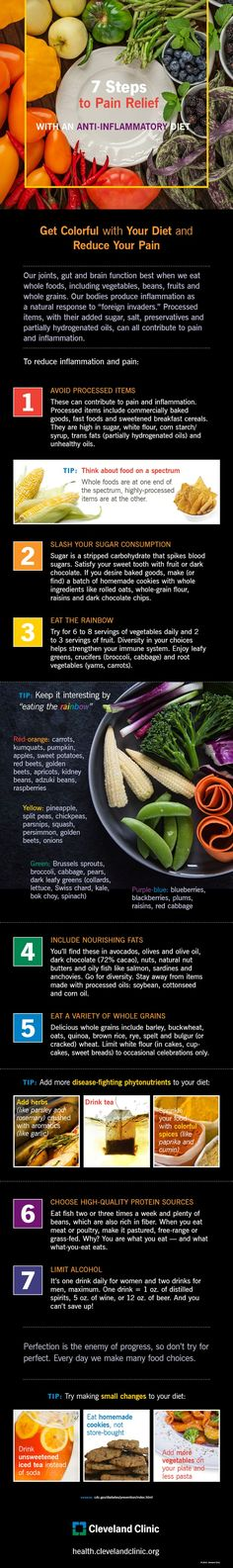 7 Steps to Pain Relief With an Anti-inflammatory Diet