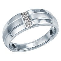 1/4ct TW Men's Three-Diamond Ring