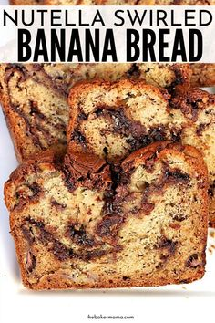 banana bread brownies Nutella Swirled Banana Bread is the ultimate banana bread recipe. This is such a tasty recipe that has swirls of sweet nutella spread in all the bread. Easy Bread Recipes, Banana Bread Recipes, Sweet Recipes, Cooking Recipes, Easy Nutella Recipes, Banana Breakfast Recipes, Nutella Banana Bread, Moist Banana Bread, Nutella Deserts