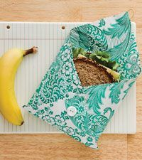 Find lunchtime waste worrisome? This adorable, sandwich sack lets you bag the baggie habit for a more sustainable option.