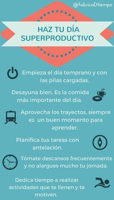 #díasuperproductivo #planificacióntareas #infografía #fabricandotiempo http://lafabricadeltiempo.es/6-consejos-para-tener-un-dia-superproductivo-infografia/