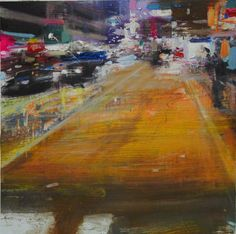 Oil on cms Oil, Landscape, Night, Canvas, Painting, Cityscapes, Tela, Scenery, Painting Art
