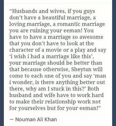 Marriage in Islam. MashAllah how beautifully is.