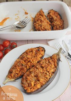 enas al horno Eggplant Rollatini Recipe, Veggie Main Dishes, Meat Recipes, Healthy Recipes, Tandoori Chicken, Food Photography, Food And Drink, Veggies, Healthy Eating