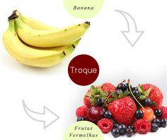 Troque a banana por alguma fruta vermelha, como amora, cereja, morango ou framboesa, pois os diferentes tipos de berries possuem menos açúcar e também são ricos em antioxidantes e nutrientes anti-inflamatórios que atuam contra o envelhecimento.