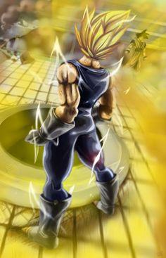 Super Vegeta vs Goku