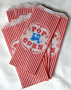 throwback popcorn bags. // $3.25 set of 25
