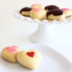 Baked Yeasted Donuts (make with a cookie cutter; choice of glazes and filling)
