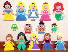 Disney Princess perler beads by Konno Izumi