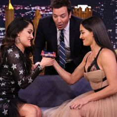 Which Bella Twin Will Win the Tonight Show Thumb Wrestling Championship Belt? Woman Drawing, Drawing Women, Bella Sisters, Surf Tattoo, Nikki And Brie Bella, Tonight Show, Total Divas, Dean Ambrose, Seth Rollins