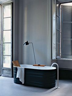 tub inspired by a feed trough. agape collection