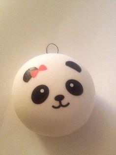 Kawaii Squishy Jumbo Scented Panda Buns  Red Bow by ToxyKawaii, $5.00