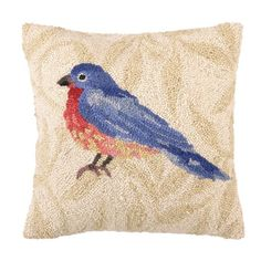 I pinned this Bluebird Pillow from the Colorful Comforts event at Joss and Main!