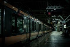 """toshibu: """" Chuo line,Tokyo at Night by Kanon Serizawa """""""