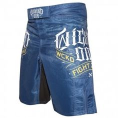 """Retrouvez nos Short MMA Wicked One \\""""Fight Zone\\"""" bleu Short Mma, Wicked, Trunks, Velcro, Polyester, Swimwear, Logos, Fashion, Lunges"""