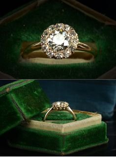 1900s Edwardian Diamond Cluster Ring at Erie Basin in Brooklyn. For sale for $4750.