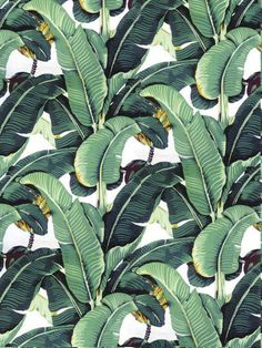 Martinique Wallpaper SALE * Double Roll of The Original /Beverly Hills Hotel Martinique Wallpaper/Palm Leaf Wallpaper/Banana Leaf Wallpaper Bedroom Wallpaper Leaf, Palm Wallpaper, Tropical Wallpaper, Print Wallpaper, Nature Wallpaper, Jungle Pattern, Fruit Illustration, Beverly Hills Hotel, Palmiers